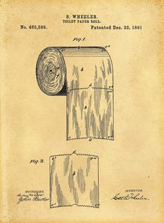 Risultati immagini per toilet patent print