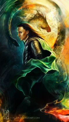 "Tom Hiddleston ""Loki"" Digital fan art"
