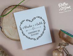 Stemple ślubne okolicznościowe firmowe ex libris w stylu retro - RetroNadruk : Pieczątki ślubne do zaproszeń, podziękowań i koper...