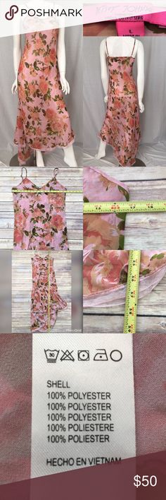 Large UO Betsey Johnson Floral Sheer Nightgown Measurements are in photos. Normal wash wear, no flaws. E1/27  I do not comment to my buyers after purchases, due to their privacy. If you would like any reassurance after your purchase that I did receive your order, please feel free to comment on the listing and I will promptly respond. I ship everyday and I always package safely. Thanks! Betsey Johnson Intimates & Sleepwear Chemises & Slips