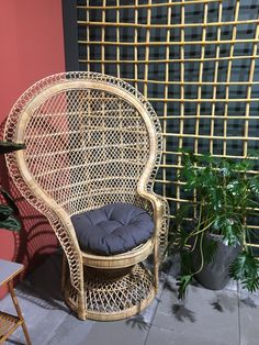 Wicker, Chair, Furniture, Home Decor, Decoration Home, Room Decor, Home Furnishings, Chairs, Arredamento