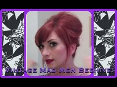 ▶ Vintage Everyday Beehive Bouffant Hair Tutorial by CHERRY DOLLFACE - YouTube