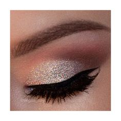 Glitter Eye Makeup Silver Eye Makeup Design ❤ liked on Polyvore featuring beauty products, makeup and eye makeup