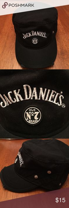 Jack Daniel's Trucker Cap Jack Daniel's Trucker Cap with embroidery and rubber patch and distressed edge on the front. NWOT. Jack Daniel's Accessories Hats