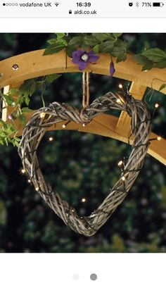 Solar Willow Heart LED Lights from Aldi for the new garden