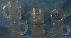 Vintage 6 McDonalds 1 Two Face,3 Riddler,2 BATMAN FOREVER mugs/cups DC Comics D4 #McDonalds