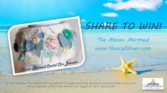 "JEWELRY CONTEST!! BRACELET GIVEAWAY!!!!    ""SHARE"" this photo for your chance to win a custom Mosaic Mermaid Coastal Chic Bracelet!! The winner will be randomly drawn on Monday, August 27and shipped to you  just in time for Labor Day !!    On Your Mark, Get set, SHARE! SHARE! SHARE!!!  https://www.facebook.com/pages/The-Mosaic-China-Cabinet/145640762145724"