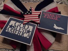 Memorial Day Cards using Cricut Stand and Salute Cartridge