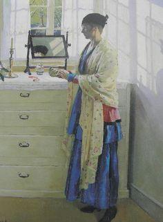 The Athenaeum - Blue Gown (Harold Harvey - )