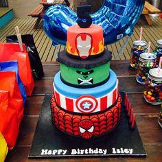 Isleys Superhero 5th Birthday Cake