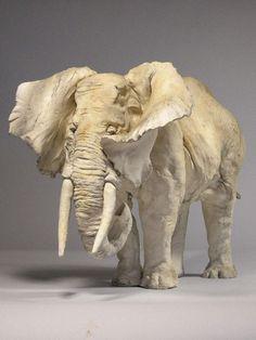 Bill Evans,  Elephant Ceramic with Pigment