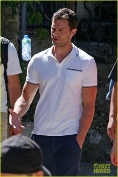 Jamie Dornan & Dakota Johnson Continue Filming 'Fifty Shades' in France After Attack: Photo #3707352. Jamie Dornan and Dakota Johnson walk side by side while on the set of Fifty Shades Freed on Friday afternoon (July 15) in Roquebrune-Cap-Martin, France.    The co-stars…