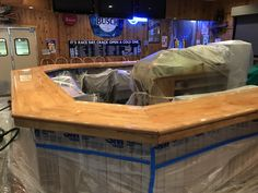 Willow River Saloon in Hudson.  New epoxy bar top completed by Lake Area Painting & Decorating, Inc.