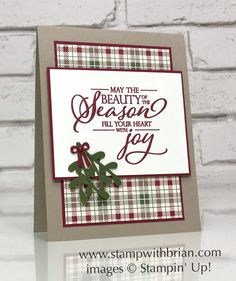 Fill Your Heart with Joy Christmas Card (Stamp with Brian) I love a big, beautiful sentiment, and today showcasing one that gets lost in a featured stamp set in 2018 Holiday Catalog. the beauty of the season fill your heart with i Christmas Cards 2018, Homemade Christmas Cards, Merry Christmas To All, Stampin Up Christmas, Noel Christmas, Xmas Cards, Homemade Cards, Holiday Cards, Christmas Crafts