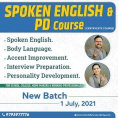 Certificate Courses, Interview Preparation, Body Language, Homemaking, Coaching, English, School, Detail, Training