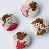 Polly Buttons - Set of Four