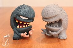"""Groper"" resin monsters from Triplikid"