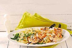 Zitronenspaghetti mit Kräutergarnelen, ein schmackhaftes Rezept aus der Kategorie Krustentier & Muscheln. Bewertungen: 199. Durchschnitt: Ø 4,6.