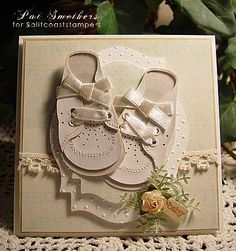 REally adorable baby card. Looks difficult.