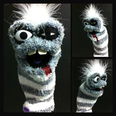 Theyre undead, they bite, and are infectious, but only to other unsuspecting sock puppets. Play out a zombie apocalypse with one of these Adorably Surly Sock Zombies! Sock Zombies come in mild, medium or excessive bloody gore. (mild gore in photo)    This sock puppet is not intended for children under 3 years of age. Adult supervision is recommended.
