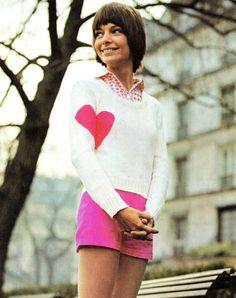 Vintage 70's Knit Heart Sweater PDF Pattern by KinsieWoolShop