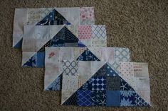 Third set of blocks I scrappy Swoon QAL..  I like the hst and small square flying geese.