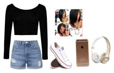 """""""Untitled #43"""" by superpartyone ❤ liked on Polyvore featuring beauty, Topshop, Boohoo and Converse"""