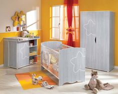 Chambre de b b on pinterest bebe baby bedroom and deco - Chambre a coucher rouge ...