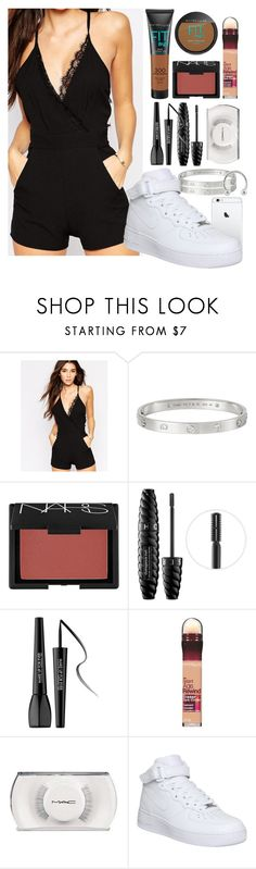 """Justin Bieber Concert 💜"" by kingnath ❤ liked on Polyvore featuring Oh My Love, Cartier, NARS Cosmetics, Sephora Collection, MAKE UP FOR EVER, Maybelline, MAC Cosmetics and NIKE"
