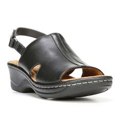NaturalSoul by naturalizer Seleste Women's Leather Wedge Sandals, Size: medium (9.5), Oxford
