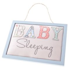 Gisela Graham Fabric Baby Sleeping Door Sign http://stores.ebay.co.uk/BlueBird-Clothing-and-Accessories