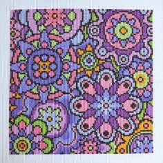 KIT de violeta flores cruz puntada Kit Kit completo moderno