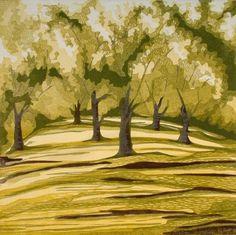 Elisabeth King wood cut. Image Via: Zea Mays Printmaking