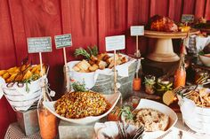 Such a fun set up for a country buffet from @StyleBlueprint Atlanta