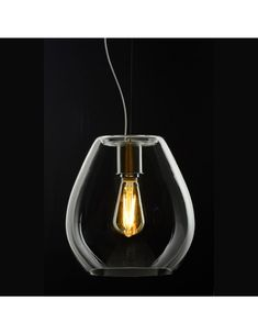 casablanca-leuchten-bagan-evolution-pendelleuchte Bagan, Casablanca, Aluminium, Evolution, Light Bulb, Lighting, Home Decor, Glass Material, Hand Blown Glass