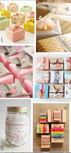 these are such great and easy ideas for wrapping beautiful gifts <3
