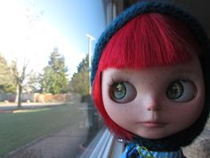 Blythe Doll Eyes Realistic Resin Chips in Green by BeBeBlytheCo