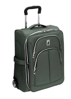 London Fog Luggage Coventry Collection Pewter 21 Inch Expandable Upright Suiter, Pewter, One Size Deluxe 6 spoke in-line skate wheels in a protective corner housing. Super lightweight and strong sidebound construction. Uprights expand for 30% more packing capacity. Interior has integrated shoe pockets and a removable accessory bag. Convenient top, side and bottom carry handles for easy lifting.  #London_Fog #Apparel