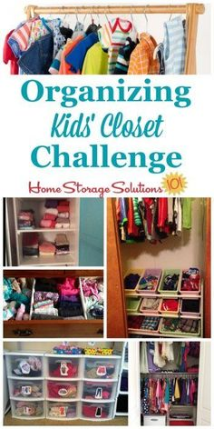 Here are step by step instructions for decluttering and organizing closet space for your kids, for their clothes and other possessions {part of the 52 Week Organized Home Challenge on Home Storage Solutions 101} #OrganizeKidsCloset #OrganizeCloset #OrganizingCloset Weekly Clothes Organizer, Kids Clothes Organization, Home Organization Hacks, Closet Organization, Clothes Storage, Organize Kids Clothes, Storage Hacks, Storage Ideas, Toddler Outfits