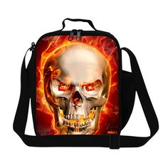 personalized skull work lunch bag for adult,stylish insulated designer lunch bags for children,metal lunch containers for men