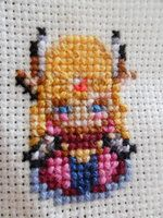 Legend Of Zelda Cross Stich Close up- Zelda by jazzyjazz666