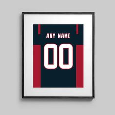 Houston Texans Poster  Jersey Design   by CSportImages on Etsy
