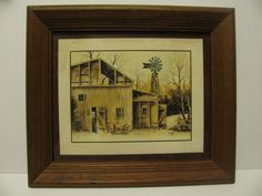 The old homestead  frame and print by Robert by ALEXLITTLETHINGS, $29.00