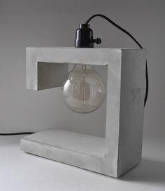 G-Spot Handmade Concrete Table Lamp