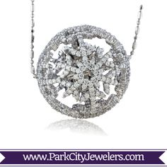46d9dd921a Diamond Snowball Pendant This diamond snowball is featured in 14K White Gold  but it is also