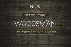 Woodsman Typeface by Nautica Studios on @creativemarket