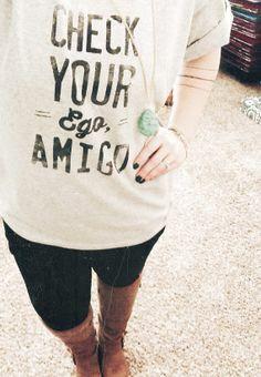 Check your ego, amigo. Sweater