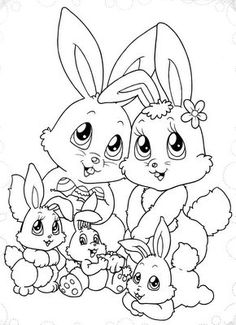 Easter Coloring Pictures, Bunny Coloring Pages, Spring Coloring Pages, Easter Colouring, Easter Pictures, Coloring Pages To Print, Colouring Pages, Printable Coloring Pages, Adult Coloring Pages