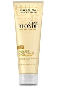 Here's How To Score The Top Hairstyles From 3 L.A. Runway Stars: Bring back those summer highlights with a conditioner that brightens and nourishes at the same time. Our tip: Leave it in for ten minutes and the conditioner will double as a hair mask.    John Freida Sheer Blonde Highlight Activating Enhancing Conditioner For Lighter Shades