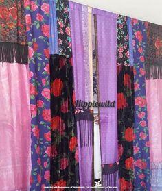 Boho Curtains by Hippiewild Hippie Bohemian, Bohemian Decor, Hippie Curtains, Canopy Bed Curtains, Burlap Garland, Hanging Photos, Christmas Pillow, Hanging Wall Art, Hippy